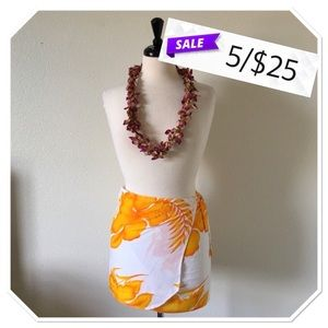 Other - Hawaiian Sarong Swim Cover Up Skirt
